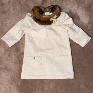 Janie and jack size 4  faux fur tunic/ dress EUC